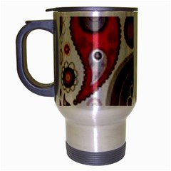 Fun Red And Black Design Travel Mug (silver Gray)