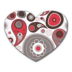 Fun Red And Black Design Heart Mousepads