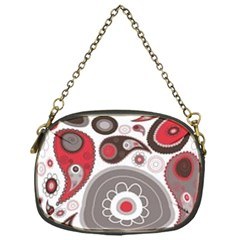Fun Red And Black Design Chain Purses (one Side)