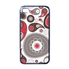 Fun Red And Black Design Apple Iphone 4 Case (black) by flipstylezdes