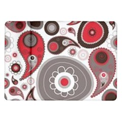 Fun Red And Black Design Samsung Galaxy Tab 10 1  P7500 Flip Case by flipstylezdes