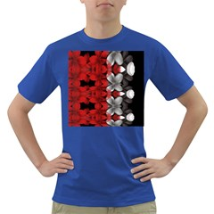 Red And Black Florals  Dark T Shirt