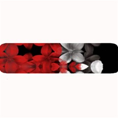 Red And Black Florals  Large Bar Mats