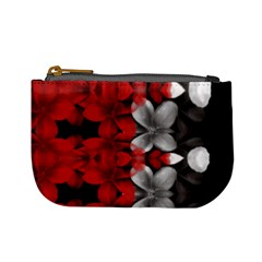Red And Black Florals  Mini Coin Purses