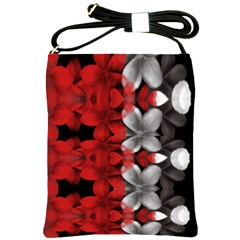 Red And Black Florals  Shoulder Sling Bags by flipstylezdes