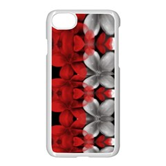 Red And Black Florals  Apple Iphone 7 Seamless Case (white)