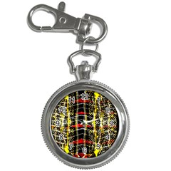 Retro Red And Black Liquid Gold  Key Chain Watches