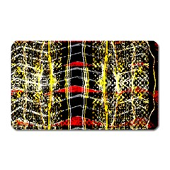 Retro Red And Black Liquid Gold  Magnet (rectangular)