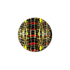 Retro Red And Black Liquid Gold  Golf Ball Marker (10 Pack)
