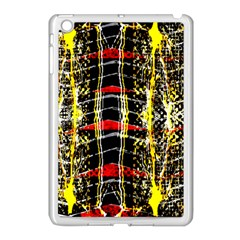 Retro Red And Black Liquid Gold  Apple Ipad Mini Case (white) by flipstylezdes