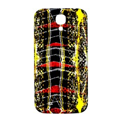 Retro Red And Black Liquid Gold  Samsung Galaxy S4 I9500/i9505  Hardshell Back Case by flipstylezdes