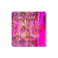 Hot Pink Mess Snakeskin Inspired  Square Magnet