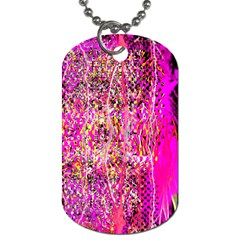 Hot Pink Mess Snakeskin Inspired  Dog Tag (one Side)