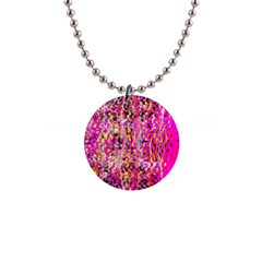 Hot Pink Mess Snakeskin Inspired  Button Necklaces by flipstylezdes