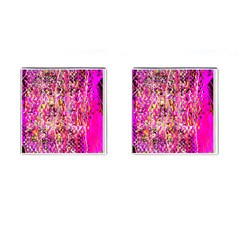 Hot Pink Mess Snakeskin Inspired  Cufflinks (square) by flipstylezdes