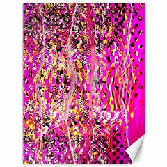 Hot Pink Mess Snakeskin Inspired  Canvas 36  X 48