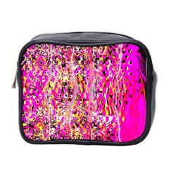 Hot Pink Mess Snakeskin Inspired  Mini Toiletries Bag 2 Side