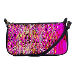 Hot Pink Mess Snakeskin Inspired  Shoulder Clutch Bags