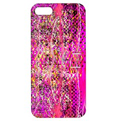 Hot Pink Mess Snakeskin Inspired  Apple Iphone 5 Hardshell Case With Stand by flipstylezdes
