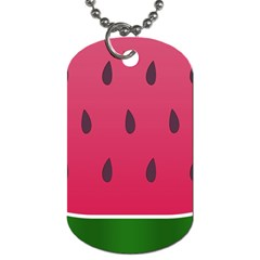 Watermelon Fruit Summer Red Fresh Dog Tag (two Sides)