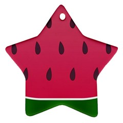 Watermelon Fruit Summer Red Fresh Star Ornament (two Sides)