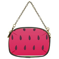 Watermelon Fruit Summer Red Fresh Chain Purses (one Side)