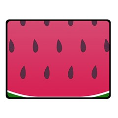 Watermelon Fruit Summer Red Fresh Fleece Blanket (small)