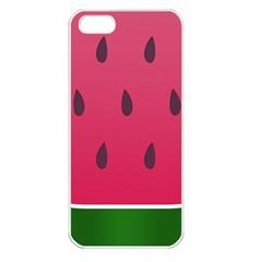 Watermelon Fruit Summer Red Fresh Apple Iphone 5 Seamless Case (white)
