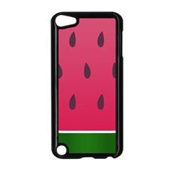 Watermelon Fruit Summer Red Fresh Apple Ipod Touch 5 Case (black)