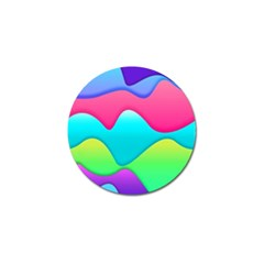 Lines Curves Colors Geometric Lines Golf Ball Marker (10 Pack)