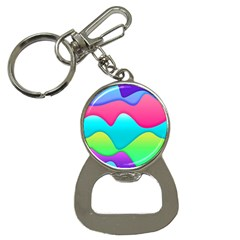 Lines Curves Colors Geometric Lines Bottle Opener Key Chains by Nexatart