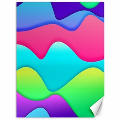 Lines Curves Colors Geometric Lines Canvas 36  X 48   by Nexatart