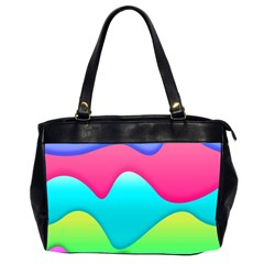 Lines Curves Colors Geometric Lines Office Handbags (2 Sides)