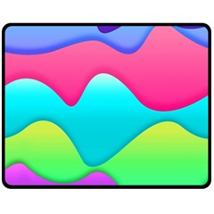 Lines Curves Colors Geometric Lines Fleece Blanket (medium)