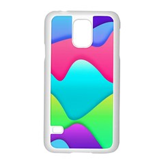 Lines Curves Colors Geometric Lines Samsung Galaxy S5 Case (white)