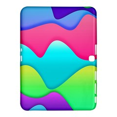 Lines Curves Colors Geometric Lines Samsung Galaxy Tab 4 (10 1 ) Hardshell Case
