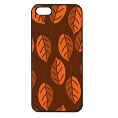 Pattern Leaf Plant Decoration Apple Iphone 5 Seamless Case (black)