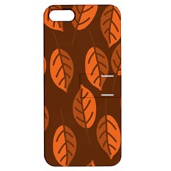 Pattern Leaf Plant Decoration Apple Iphone 5 Hardshell Case With Stand