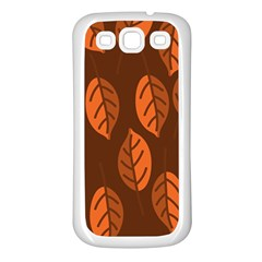 Pattern Leaf Plant Decoration Samsung Galaxy S3 Back Case (white)