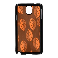 Pattern Leaf Plant Decoration Samsung Galaxy Note 3 Neo Hardshell Case (black)
