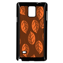 Pattern Leaf Plant Decoration Samsung Galaxy Note 4 Case (black)