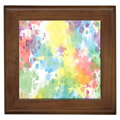 Abstract Pattern Color Art Texture Framed Tiles