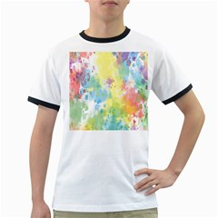 Abstract Pattern Color Art Texture Ringer T Shirts