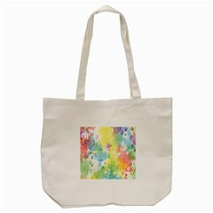 Abstract Pattern Color Art Texture Tote Bag (cream) by Nexatart