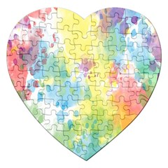 Abstract Pattern Color Art Texture Jigsaw Puzzle (heart)