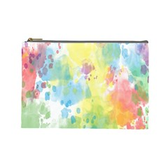 Abstract Pattern Color Art Texture Cosmetic Bag (large)
