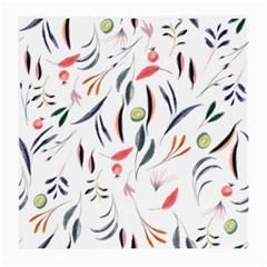 Watercolor Tablecloth Fabric Design Medium Glasses Cloth (2 Side)