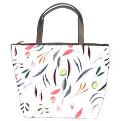 Watercolor Tablecloth Fabric Design Bucket Bags by Nexatart