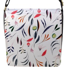 Watercolor Tablecloth Fabric Design Flap Messenger Bag (s)