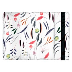 Watercolor Tablecloth Fabric Design Samsung Galaxy Tab Pro 12 2  Flip Case